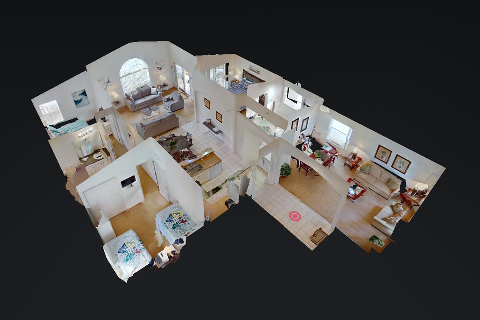 Top Down Floorplan Shot of Highgate Sunshine Villa